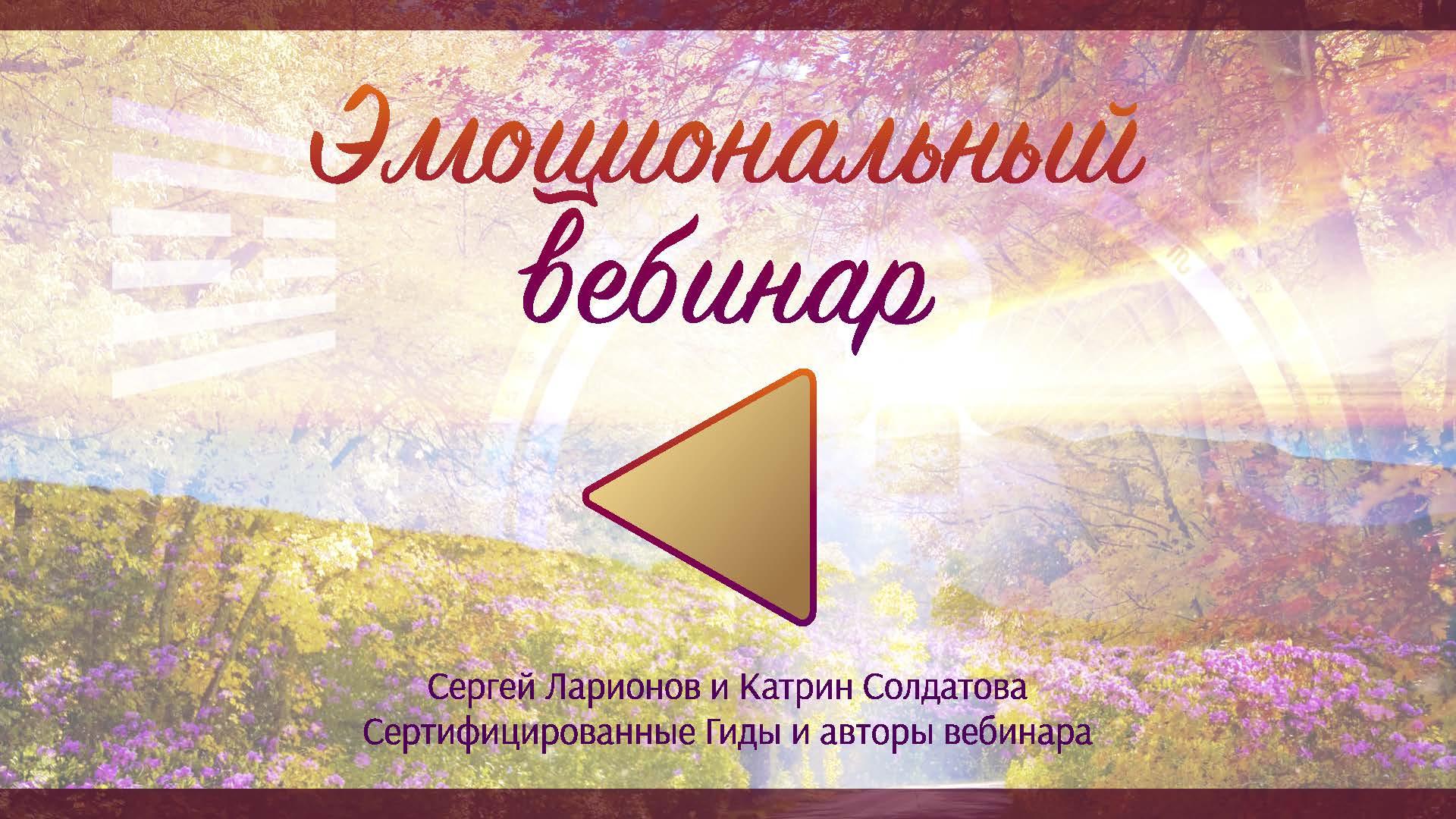 """Вебинар """"Эмоции центра Солнечное Сплетение"""""""